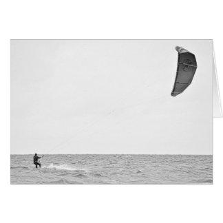 Kitesurfing - Greeting Card
