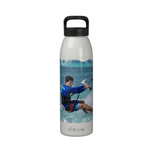 Kitesurfing Guy Reusable Water Bottles