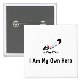 Kitesurfing Hero Pinback Button