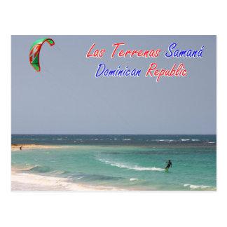 Kitesurfing Las Terrenas Samana Dominican Republic Postcard