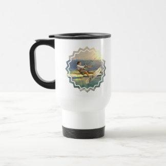 Kitesurfing Plastic Travel Mug