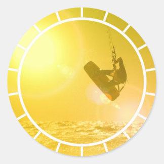 Kitesurfing Silhouette Stickers
