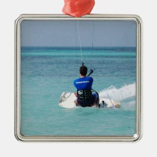Kitesurfing tropical ornamentos de reyes magos