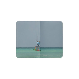 Kitesurfing Turn Pocket Moleskine Notebook Cover With Notebook