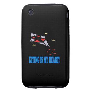 Kiting es mi corazón iPhone 3 tough cárcasas