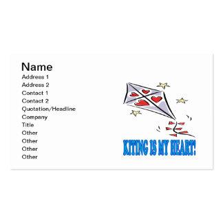 Kiting es mi corazón tarjeta de visita