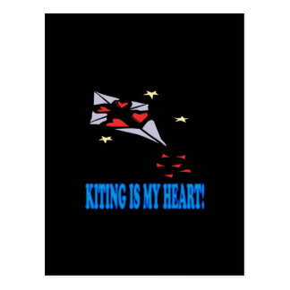 Kiting Is My Heart Postcard