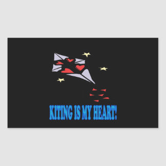 Kiting Is My Heart Rectangular Sticker