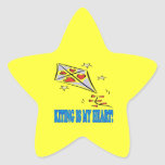 Kiting Is My Heart Stickers