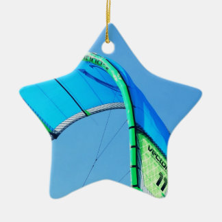 Kiting Double-Sided Star Ceramic Christmas Ornament