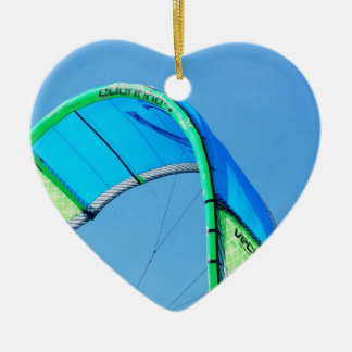 Kiting Double-Sided Heart Ceramic Christmas Ornament