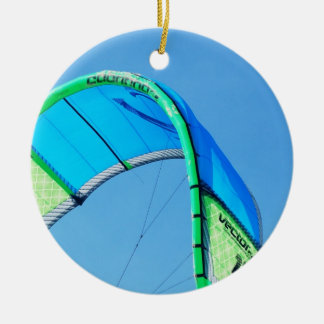 Kiting Double-Sided Ceramic Round Christmas Ornament