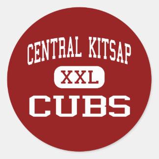 Kitsap central - Cubs - joven - Silverdale Etiquetas Redondas