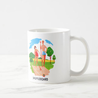 Kitsch 60s Vintage Resort Shuffleboard Couple Coffee Mug