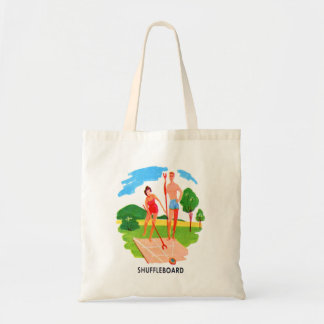 Kitsch 60s Vintage Resort Shuffleboard Couple Tote Bag