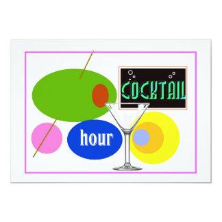 """Kitsch de la hora del cóctel invitación 5"""" x 7"""""""