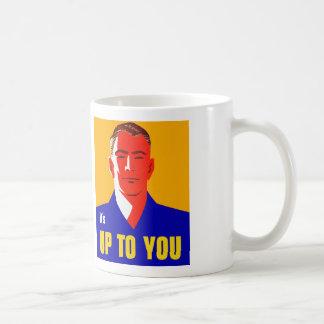 Kitsch del gobierno del vintage su hasta usted mas taza de café