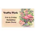 Kitsch Pink Flamingo Vintage Business Card