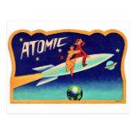 Kitsch retro 50s Rocket atómico del vintage a la Postales