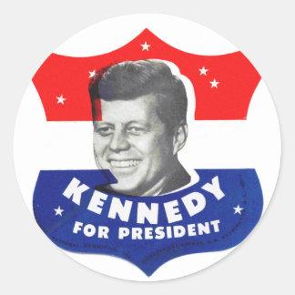 Kitsch retro 60s Kennedy del vintage para el presi Etiqueta