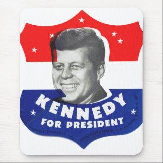 Kitsch retro 60s Kennedy del vintage para el presi Alfombrillas De Ratón
