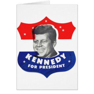 Kitsch retro 60s Kennedy del vintage para el presi Felicitacion