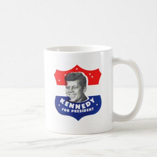 Kitsch retro 60s Kennedy del vintage para el presi Tazas De Café