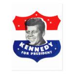 Kitsch retro 60s Kennedy del vintage para el Postal