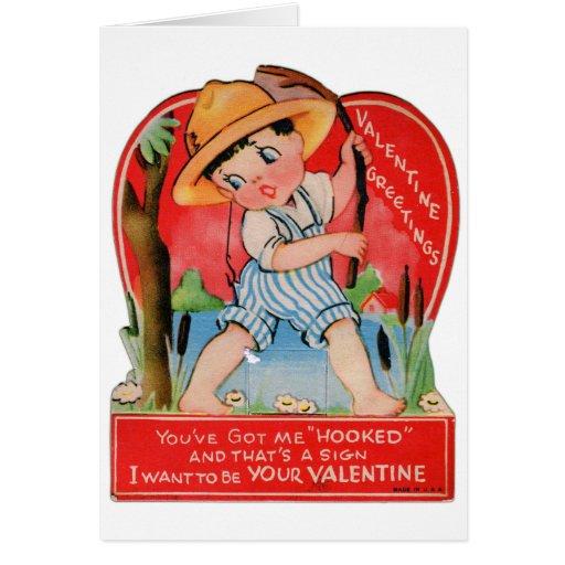 Kitsch retro de la tarjeta del día de San Valentín