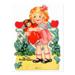 Kitsch retro de la tarjeta del día de San Valentín Postal