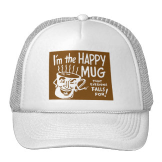 Kitsch retro del café del vintage soy la taza gorras