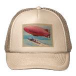 Kitsch retro del vintage de la tarjeta dirigible d gorros