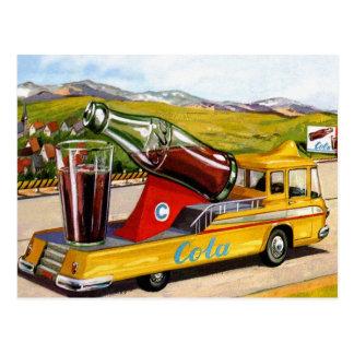 Kitsch retro del vintage que hace publicidad del c tarjeta postal