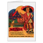 Kitsch retro Halloween Trix del vintage o caramelo Felicitacion