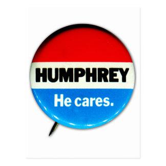 """Kitsch retro Humphrey del vintage """"él cuida"""" el bo Tarjetas Postales"""