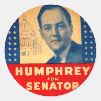 Kitsch retro Humphrey del vintage para el botón Pegatina Redonda