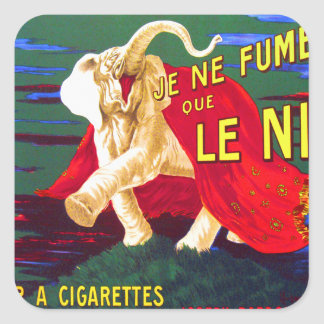 Kitsch retro Je Ne Fume Le Nil Cigarettes del Pegatina Cuadrada