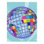 Kitsch retro Trave intercontinental global del vin Tarjeta Postal