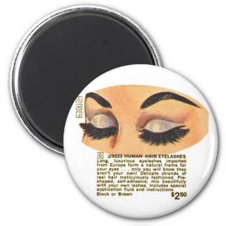 Kitsch Vintage '100% Human Eyelasses' Ad Magnet