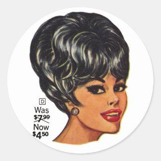 Kitsch Vintage '100% Human Wig' Ad #2 Classic Round Sticker