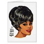 Kitsch Vintage '100% Human Wig' Ad #2 Greeting Card