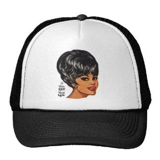 Kitsch Vintage '100% Human Wig' Ad #2 Hats