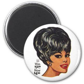 Kitsch Vintage '100% Human Wig' Ad #2 Magnet
