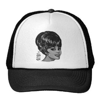 Kitsch Vintage '100% Human Wig' Ad Mesh Hat