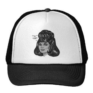 Kitsch Vintage '100% Human Wig' Ad Trucker Hat