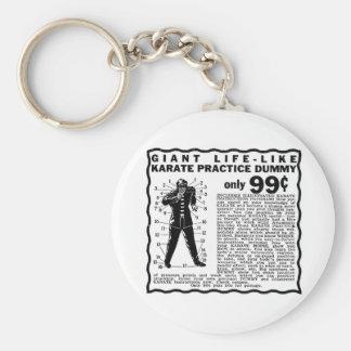 Kitsch Vintage '17 Secret Points Karate Dummy' Keychain