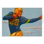Kitsch Vintage 40s Football Player 'Stiff Arm'