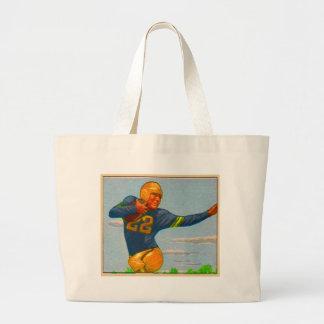 Kitsch Vintage 40s Football Player 'Stiff Arm' Canvas Bag