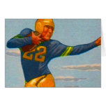 Kitsch Vintage 40s Football Player 'Stiff Arm' Card