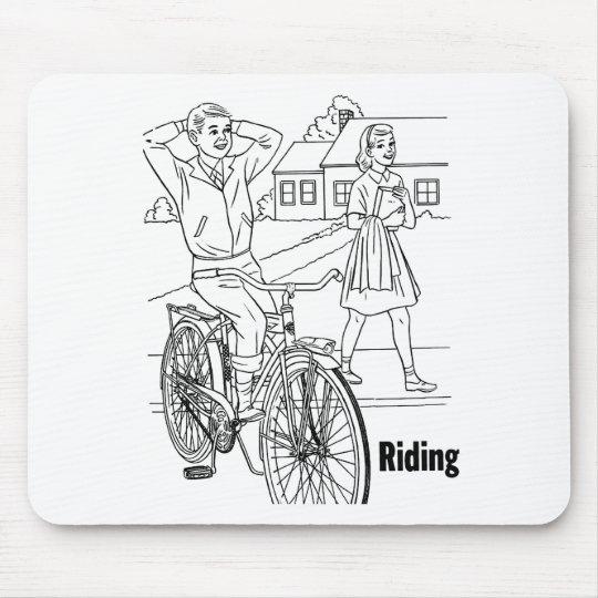 Kitsch Vintage 60's Teens Cruising Biker Mouse Pad